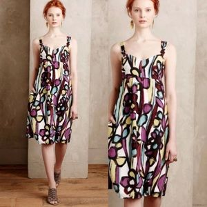 Anthropologie Tabitha Abstract Floral Dress Size 4